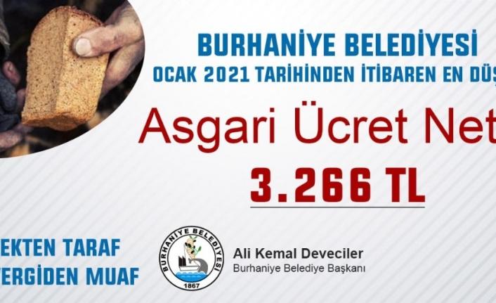 Burhaniye Belediyesi'nde en düşük maaş 3 bin 266 TL