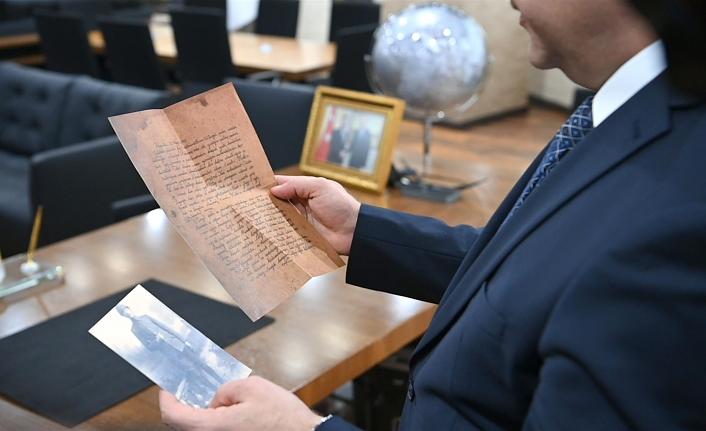 Şehit Yüzbaşı Mehmet Tevfik'in mektubu 18 Mart Çanakkale Deniz Zaferi'nin 106. yıl dönümü kapsamında Balıkesirlilere dağıtıldı.