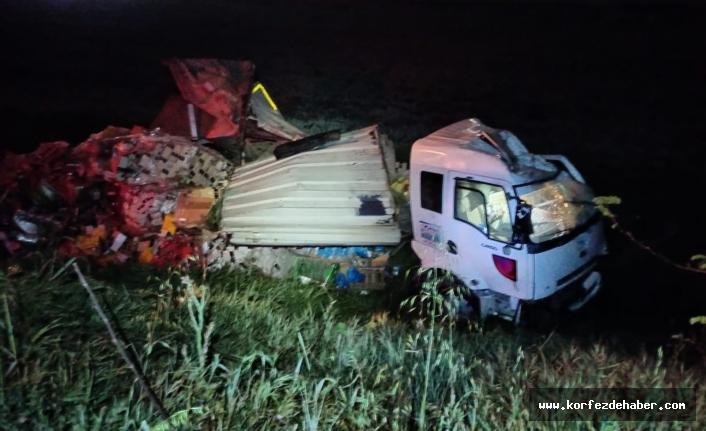 Bu kamyondan yaralı kurtuldu