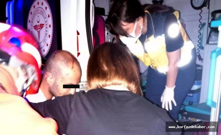 Ayvalık'ta kazada araç hurdaya döndü: 2 yaralı