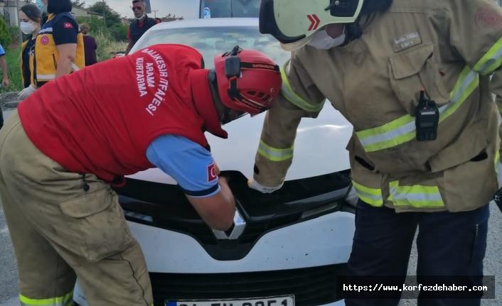 Akçay'da kaza ucuz atlatıldı