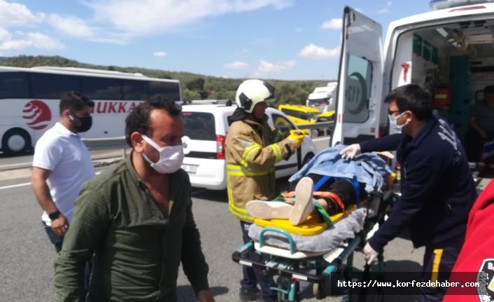 Havran'da korkunç kaza ucuz atlatıldı