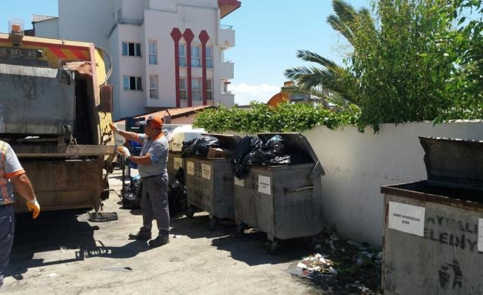 Ayvalık'ta rekor çöp toplandı