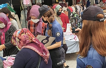 Edremit'te kadın polisler Kades'i anlattı