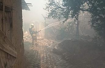 Havran'da ev yangını