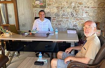 Yazar Şeyhoğlu'dan Kaymakam Görgülüarslan'a nazik ziyaret
