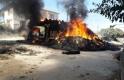 İvrindi'de saman yüklü kamyon cayır cayır böyle yandı