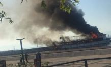 Tur teknesi alev alev yandı