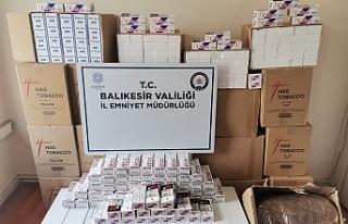Bandırma'da polis 230 bin adet boş makaron...