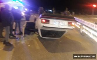 #sondakika Havran'da araç takla attı