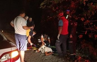 Edremit'te motosiklet çaya uçtu: 1 yaralı