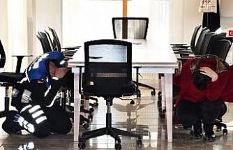 Kestel Belediyesi'nde deprem tatbikatı başarıyla gerçekleşti