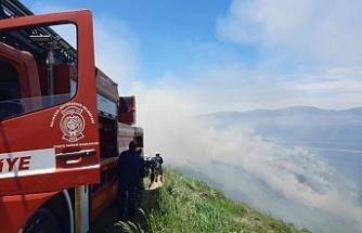 Şüpheli yangın. 15 dekar makilik alan yandı