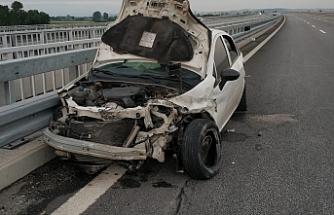 Korkutan kaza ucuz atlatıldı: 1 yaralı