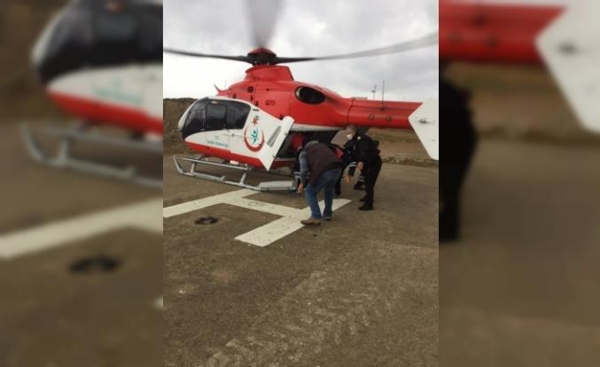 Helikopter Ambulans Bandırma'ya havalandı