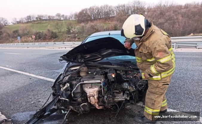 Kadın sürücü bu araçtan yara almadan kurtuldu